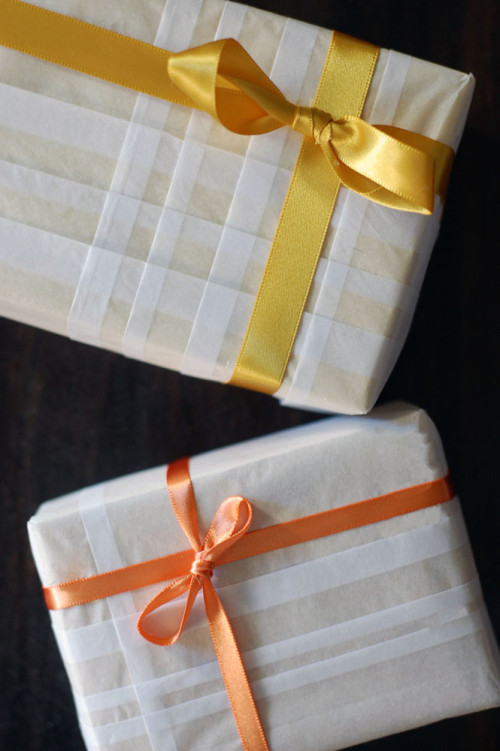 Plaid Gift Wrapping