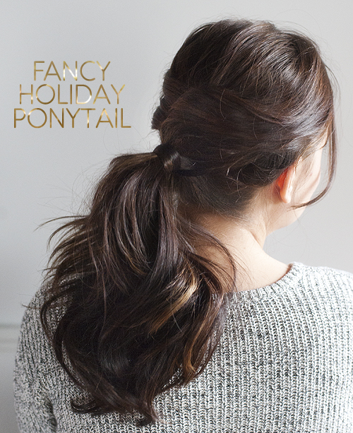 20 fancy holiday ponytail