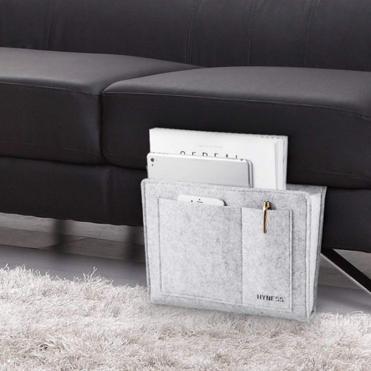 Sofa storage caddy – great for books, tablets, and e-readers