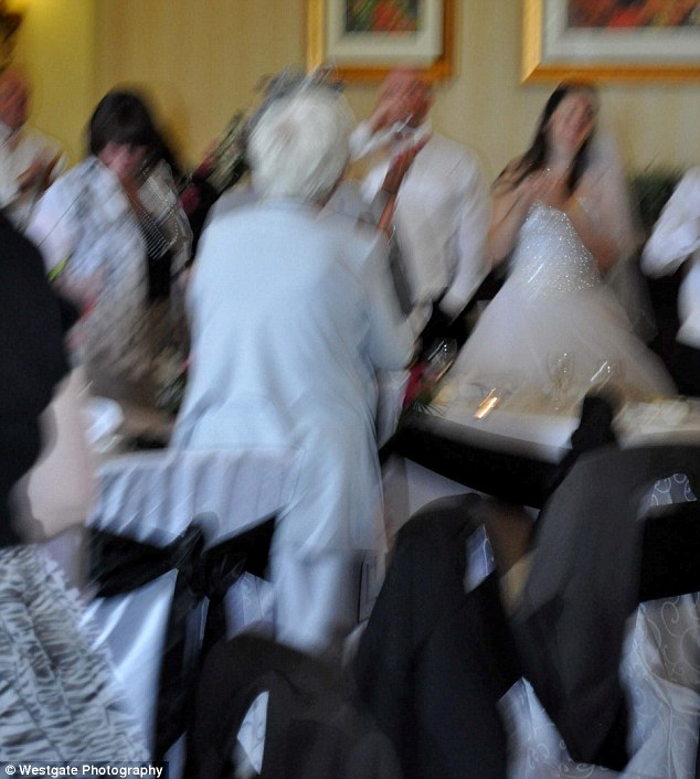 Blurry: The pictures of the evening do attended by 120 guests were also taken without a flash