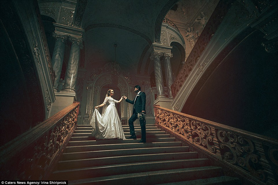 Irina Shiripnick captured this elegant couple descending steps in this majestic photo taken in Odessa Ukraine