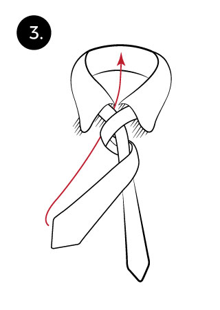 tie a necktie with four in hand step 3