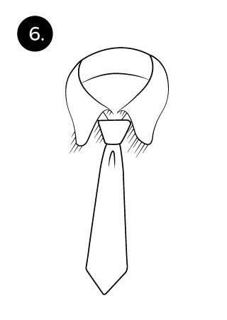 tie a necktie with the pratt or shelby knot