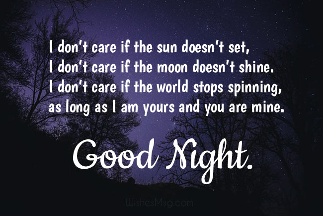 Romantic Good Night Wishes for Wife