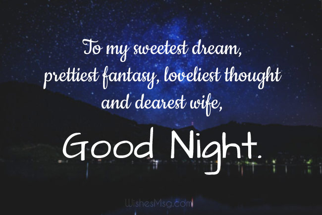 Good Night Wishes for Wife