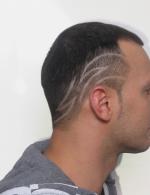 Прическа мужская с узорами – Мужские стрижки с рисунками на голове — фото и видео мужских причесок с узорами
