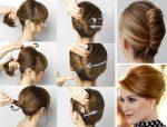 Прически на средние волосы с челкой фото на торжество – праздничные, вечерние и повседневные (более 200 фото + видео)