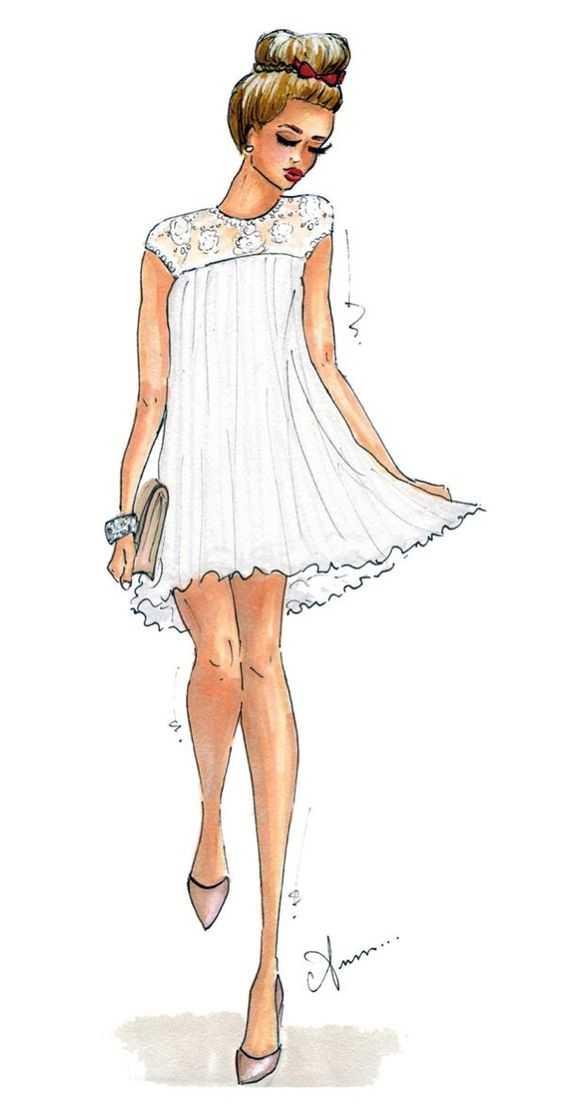 девушки срисовка в полный рост одежда