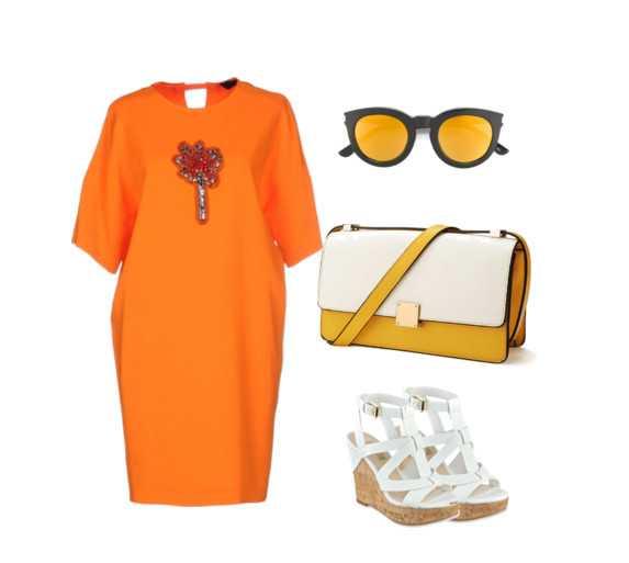 645624b67dcfe Оранжевый и светло-зелёный — радостное, яркое сочетание для таких же  девушек, активных и ярких. При таком цветовом решении в одежде настроение  наверняка ...