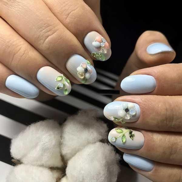 Ногти Шеллак Стразы Фото