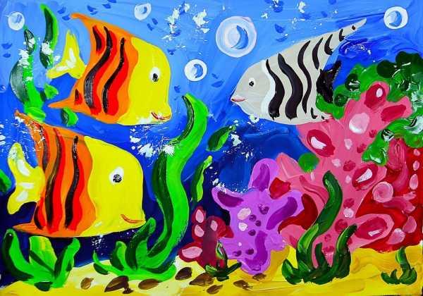 Рисунки морской мир – Раскраска Подводный Мир